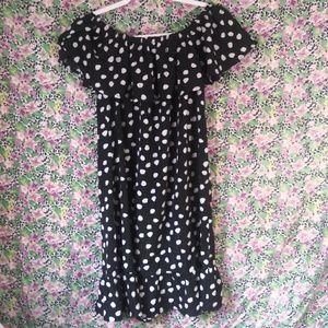Merona polka-dot off-shoulder short dress
